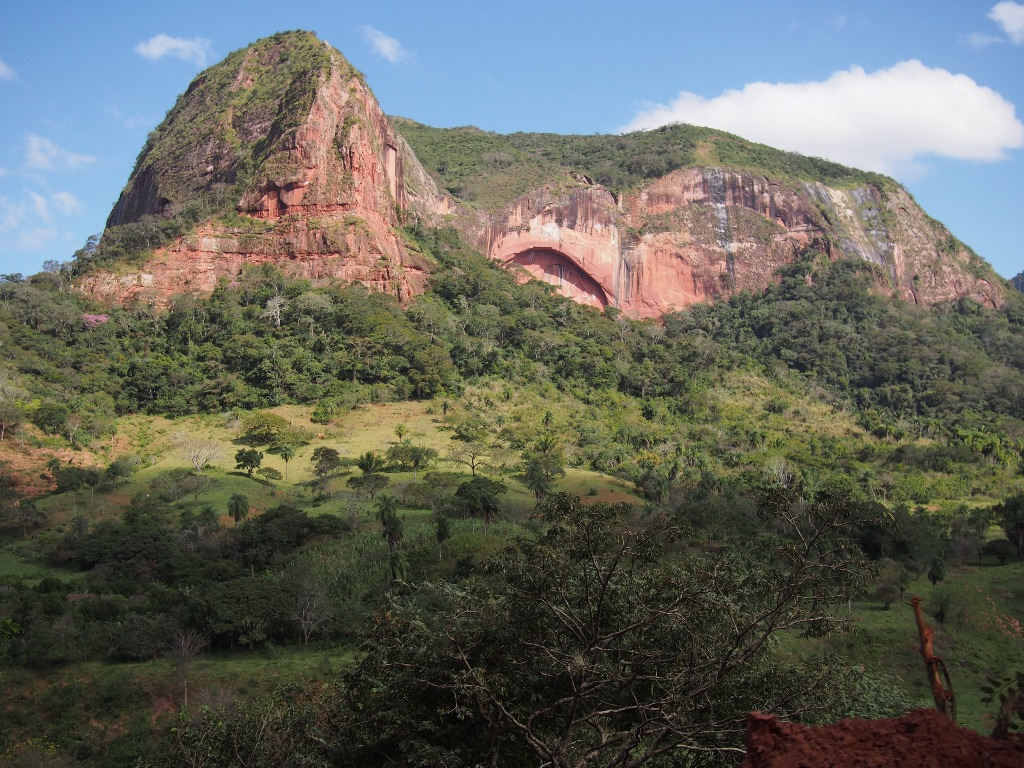 My favorite rock formation on the way to Samaipata.
